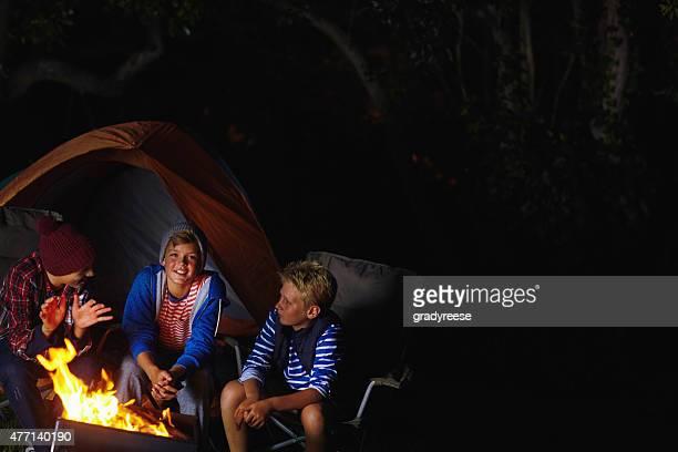 Camaraderie around the campfire