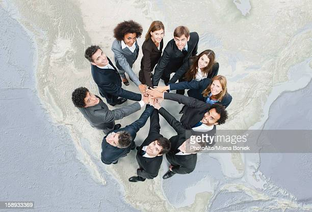 camaraderie between business associates encourages greater cooperation - the americas stock pictures, royalty-free photos & images