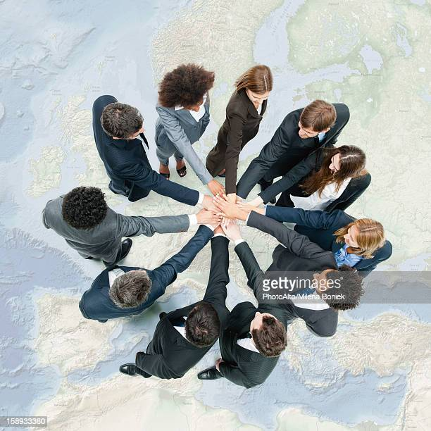 Camaraderie between business associates fosters productive teamwork