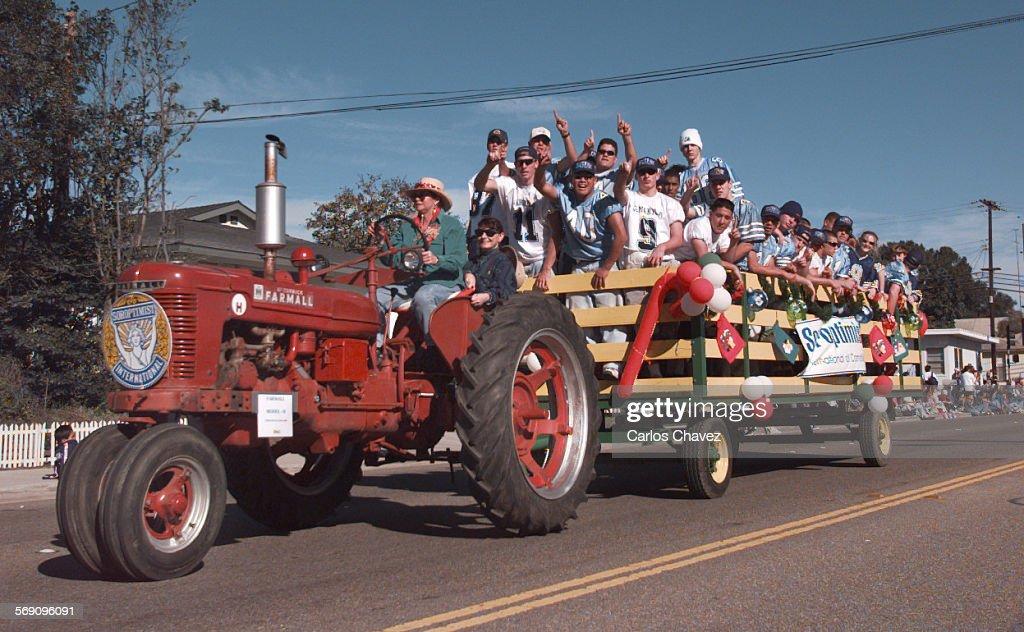 Camarillo Christmas Parade.Camarillo High Football Team Participated In The Camarillo
