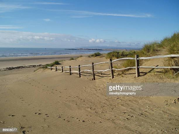 camber sands, east sussex,england - camber sands stock photos and pictures