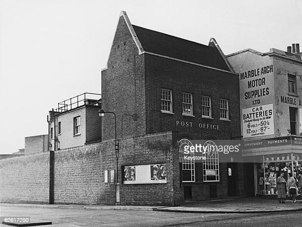 Camberwell Green Post Office south London hours after it was robbed by a gang who blew the safe with gelignite 22nd November 1960