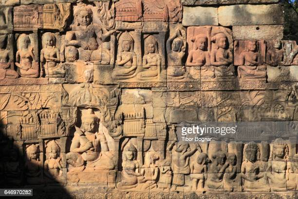 Cambodia, Angkor, Angkor Thom, Terrace of the Leper King,