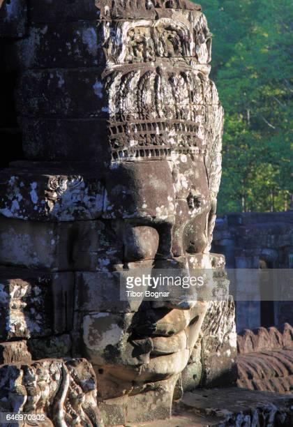 Cambodia, Angkor, Angkor Thom, The Bayon, Avalokiteshvara faces,