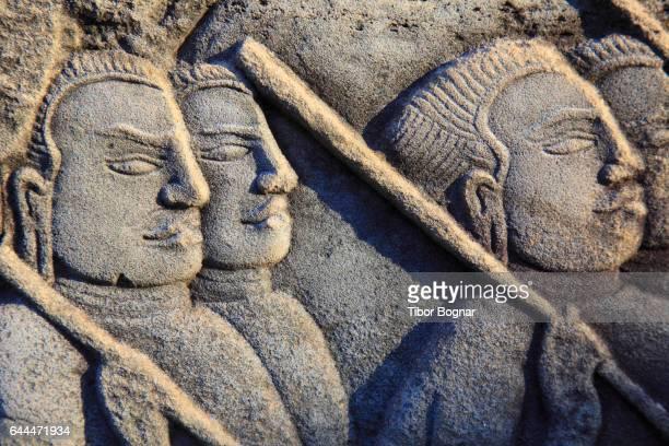 Cambodia, Angkor, Angkor Thom, The Bayon, bas-relief,