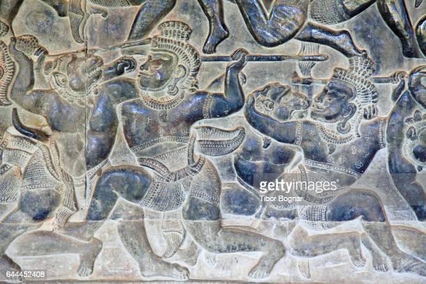 Cambodia, Angkor, Angkor Wat, bas-relief,