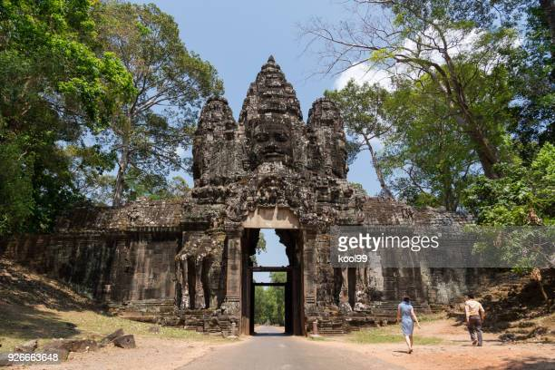 Kambodscha Angkor Wat Khmer Lächeln Tor