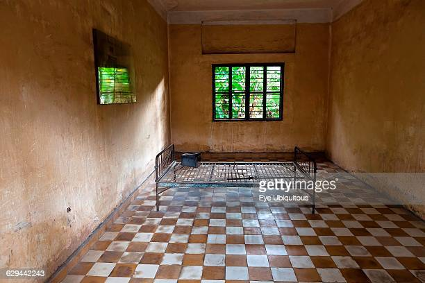Cambodia Phnom Penh One of the cells at Toul Sleng Genocide Museum S21 Toul Sleng a high school was taken over by the Khmer Rouge and turned into a...