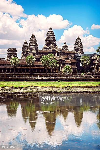 cambodia, siem reap, angkor wat temple - angkor wat stock pictures, royalty-free photos & images