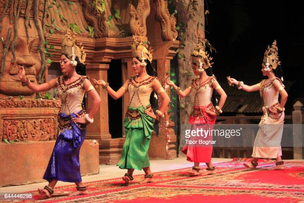 Cambodia, Siem Reap, Apsara dance, classical dancers,