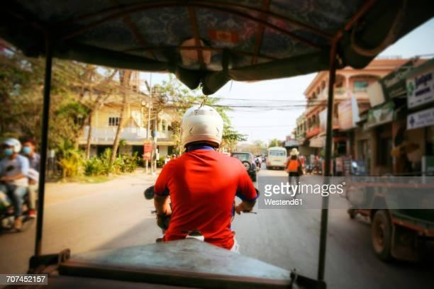 Cambodia, Siem Reap, driving tuk tuk