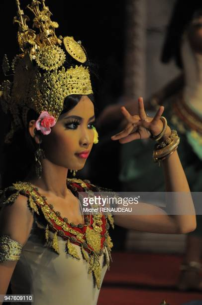 Cambodia Siem Reap Province Siem Reap Apsara Theater Khmer Classical Dance listed as World Intagible Cultural Heritage by UNESCO Apsara dancers...