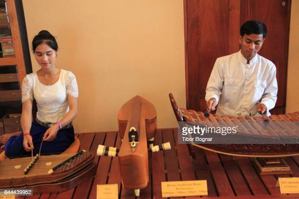 Cambodia, Siem Reap, traditional musicians, music, people,