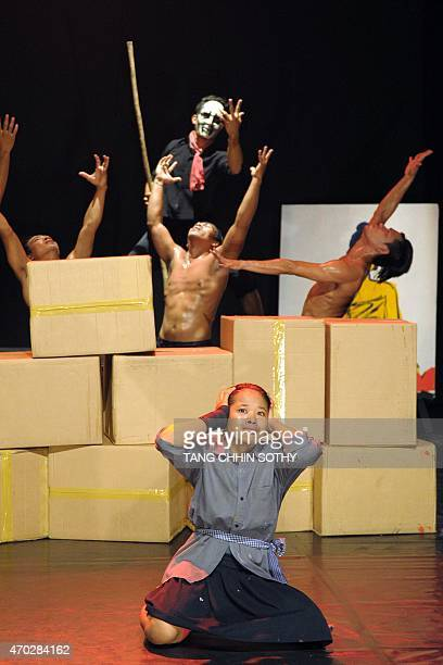 CambodiaKRougeentertainmentlifestylehistory FEATURE by Suy SE This photo taken on March 22 2015 shows Cambodian artists during a circus performance...