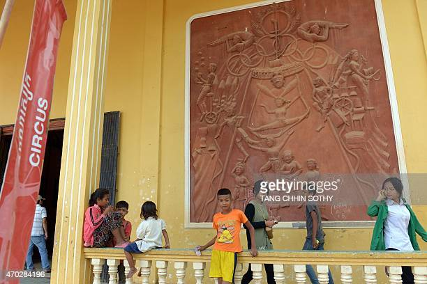 CambodiaKRougeentertainmentlifestylehistory FEATURE by Suy SE This photo taken on March 23 2015 shows Cambodian youths at the Phare Ponleu Selpak...
