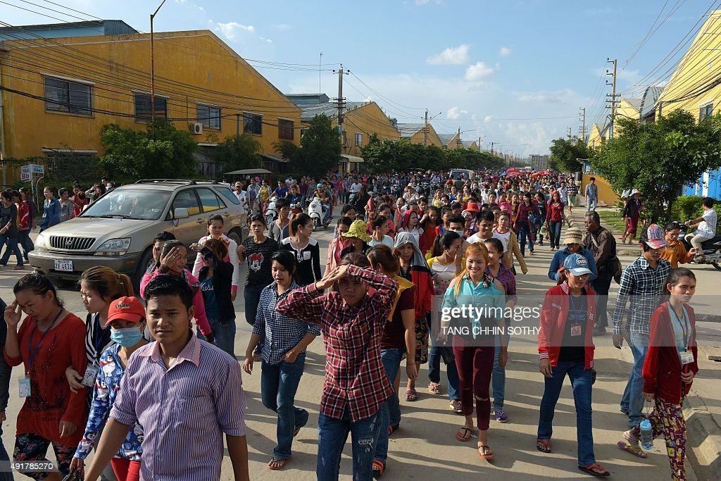 CAMBODIA-TEXTILE-ECONOMY-LABOUR : News Photo