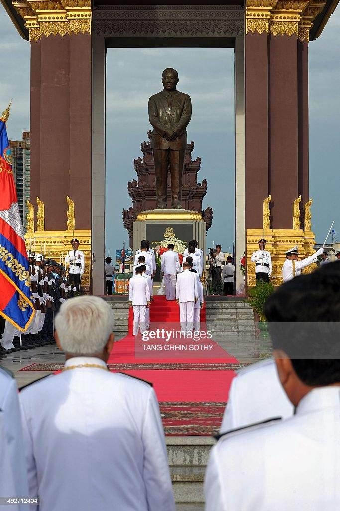 CAMBODIA-ROYALS-ANNIVERSARY : News Photo