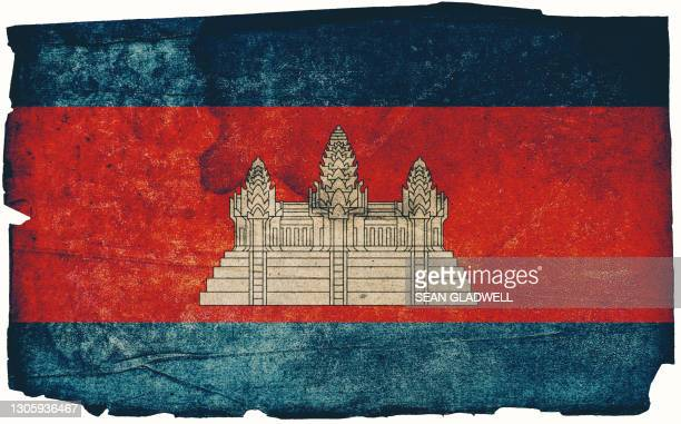 cambodian grunge flag - insignia stock pictures, royalty-free photos & images