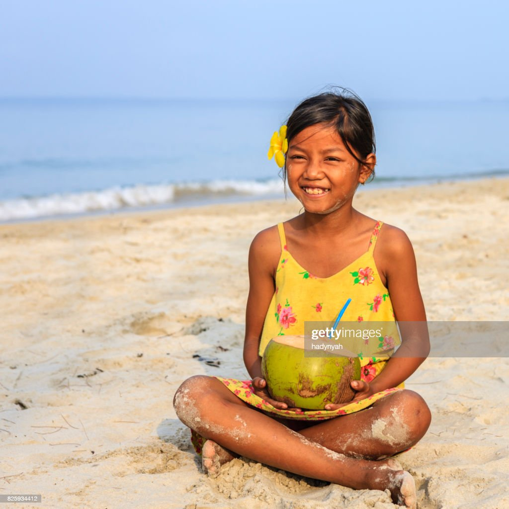 Cambodian Little Girl In Village Near Siem Reap Cambodia