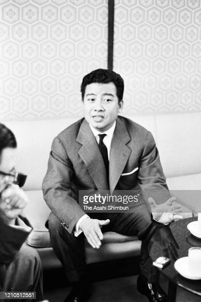 Cambodian Prime Minister, Prince Norodom Sihanouk speaks during a press conference on October 7, 1961 in Tokyo, Japan.