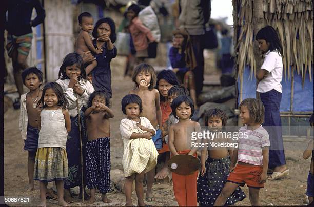 Cambodian refugees including women and children at Khao I Dang camp on the Cambodian Thailand border