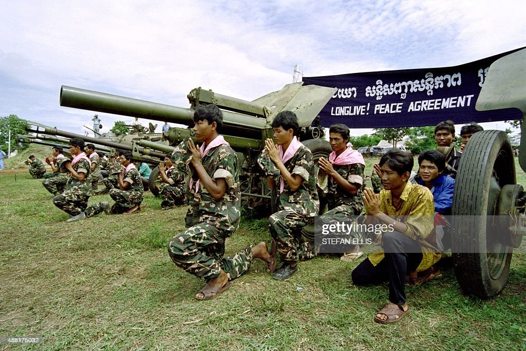 Cambodian Soldiers Of The 2nd Brigade Of The Khmer Peoples National