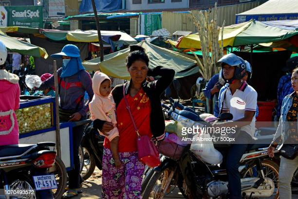 cambodian woman with child
