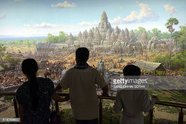 CambodiaNKoreaartlifestylediplomacymuseum FEATURE by Jerome TAYLOR This photo taken on February 16 2016 shows Cambodian people looking at a painting...