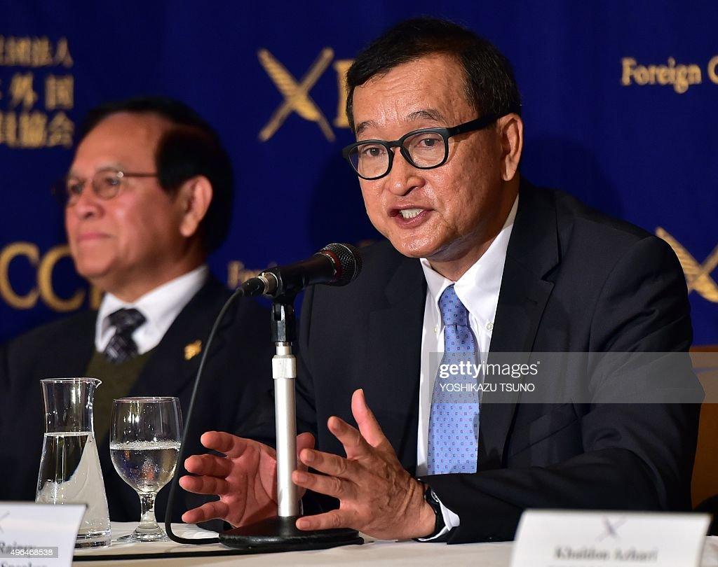 JAPAN-CAMBODIA-POLITICS-DEMOCRACY : News Photo