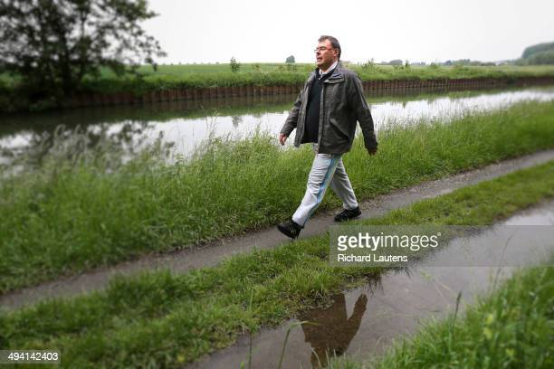 Cambrai France May 27 A man walks along the Canal de l'Escaut a few kilometres away from Cambrai Canadian forces were in the toughest battles of the...