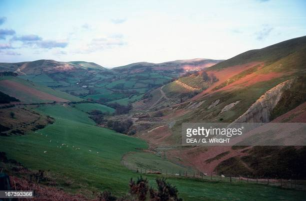Cambrian Mountain landscape Wales United Kingdom