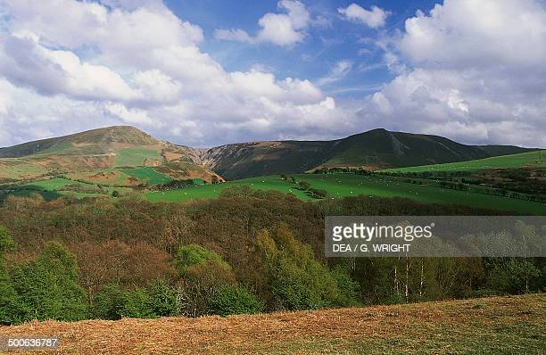 Cambrian mountains landscape Wales United Kingdom