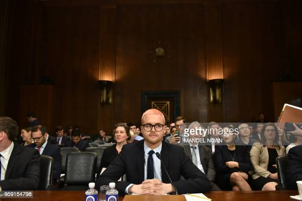 Cambridge Analytica former employee and whistleblower Christopher Wylie arrives to testify before the Senate Judiciary Committee on Cambridge...
