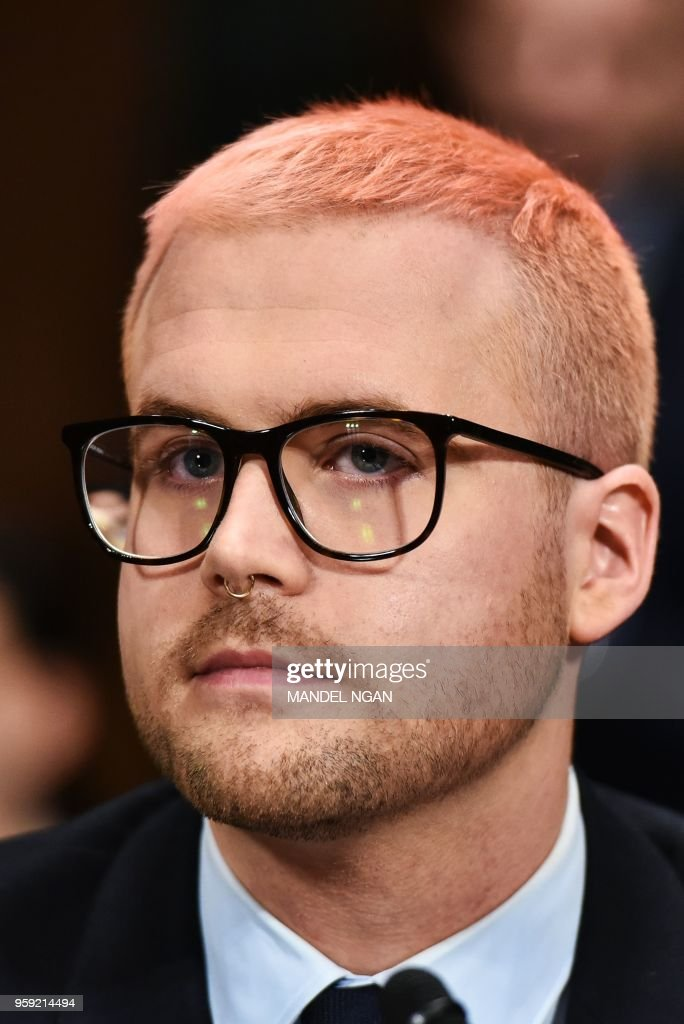 Cambridge Analytica former employee and whistleblower Christopher Wylie testifies before the Senate Judiciary Committee on Cambridge Analytica and data privacy in the Dirksen Senate Office Building on Capitol Hill in Washington, DC on May 16, 2018.