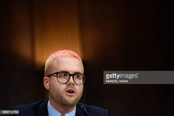 Cambridge Analytica former employee and whistleblower Christopher Wylie testifies before the Senate Judiciary Committee on Cambridge Analytica and...
