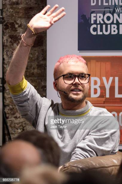 Cambridge Analytica whistleblower Christopher Wylie attends an event at the Frontline Club on March 20 2018 in London England British authorities are...