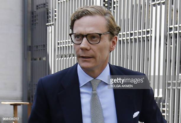 Cambridge Analytica's former CEO Alexander Nix arrives to give evidence to Parliament's Digital Culture Media and Sport Committee at Portcullis House...