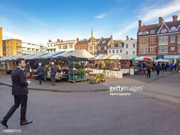 cambridge market - cambridge stock pictures, royalty-free photos & images