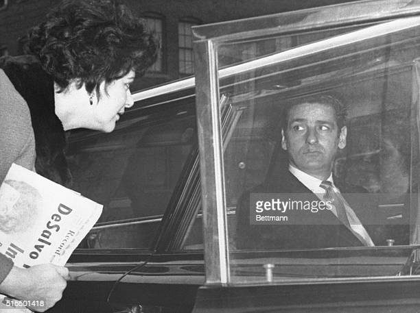 Albert H DeSalvo 35 the self confessed Boston Strangler stares back at Theresa Morehead of Cambridge outside Middlesex Superior Court The 35yearold...