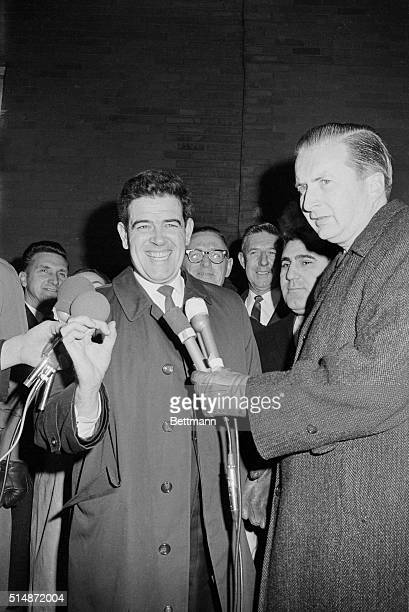 A happy Asst Dist Atty Donald l Conn prosecutor in case of Albert DeSalvo self confessed Boston Strangler is shown at press conference after the...