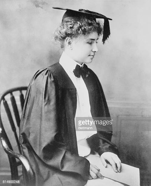 Cambridge, Massachusetts: Keeper Of the Flame. In cap and gown, Helen Keller is shown as she graduated Cum Laude from Radcliffe College. Even before...