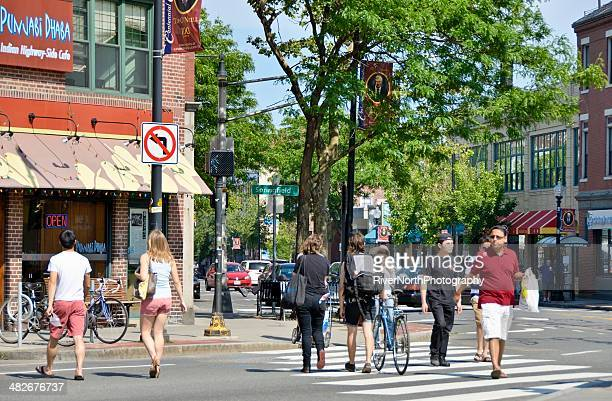 cambridge street scene - cambridge massachusetts stock pictures, royalty-free photos & images