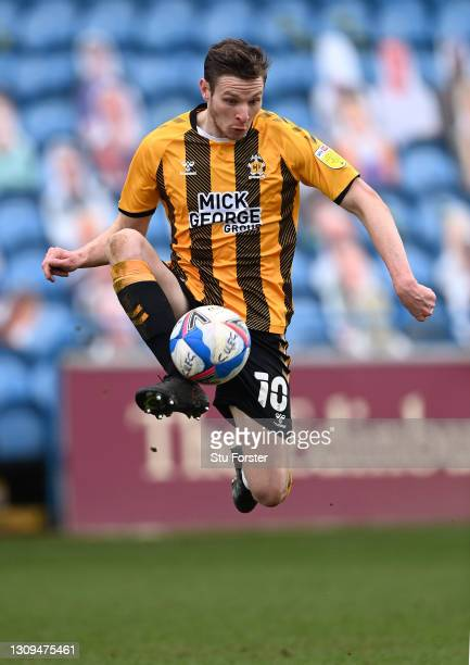Cambridge striker Paul Mullin in action during the Sky Bet League Two match between Carlisle United and Cambridge United at Brunton Park on March 27,...