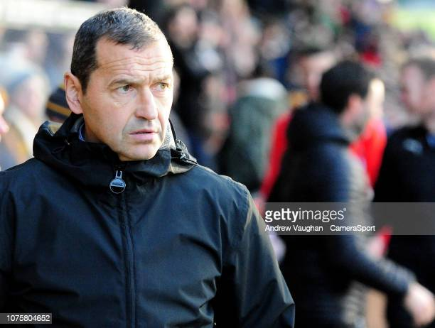 Cambridge United manager Colin Calderwood during the Sky Bet League Two match between Cambridge United and Lincoln City at Abbey Stadium on December...