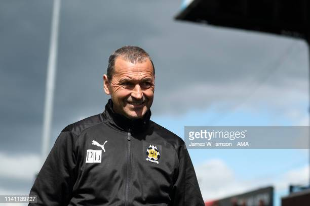 Cambridge United manager head coach Colin Calderwood during the Sky Bet League Two match between Macclesfield Town and Cambridge United at Moss Rose...