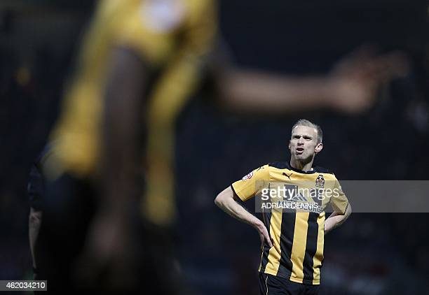Cambridge United's English midfielder Luke Chadwick former Manchester United player is pictured during the FA Cup fourth round football match between...