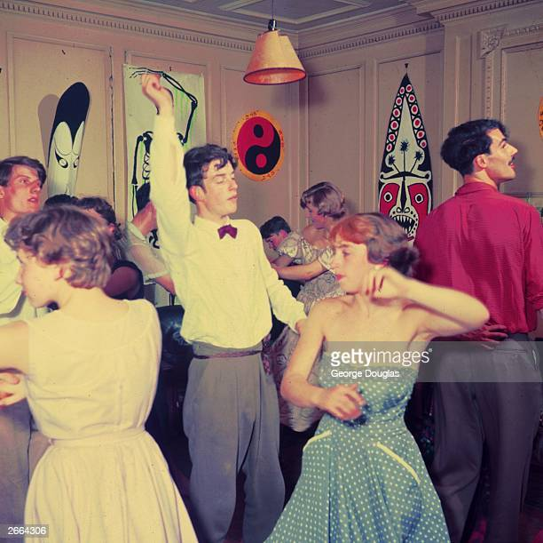 A Cambridge University 'May Week' party in full swing June 1954 Original Publication Picture Post 8843 Cambridge May Week unpub