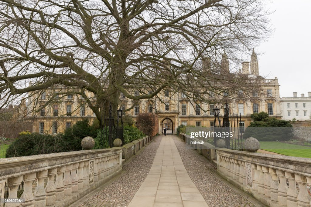 Cambridge University view to of college architecture : Stock Photo