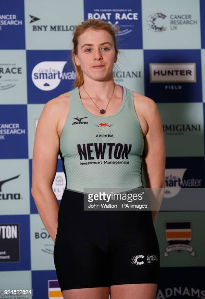 Cambridge women's Alice White during the Boat Race crew announcement and weigh in media day at City Hall London PRESS ASSOCIATION Photo Picture date...