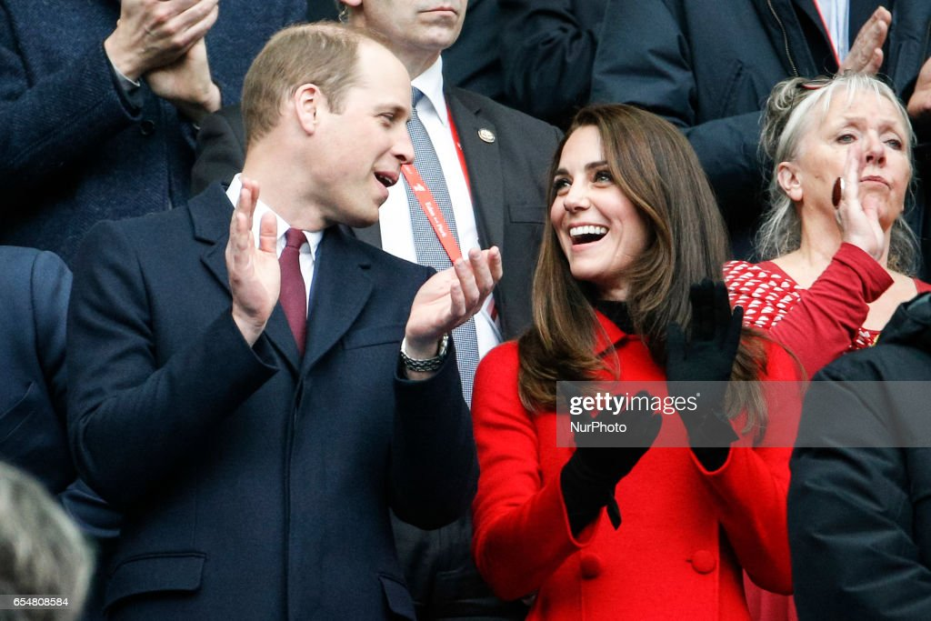 Prince William and Kate Middleton Attend France vs Wales RBS 6 Nations : News Photo